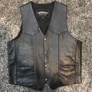 Unik Real Leather Motorcycle Vest NWOT